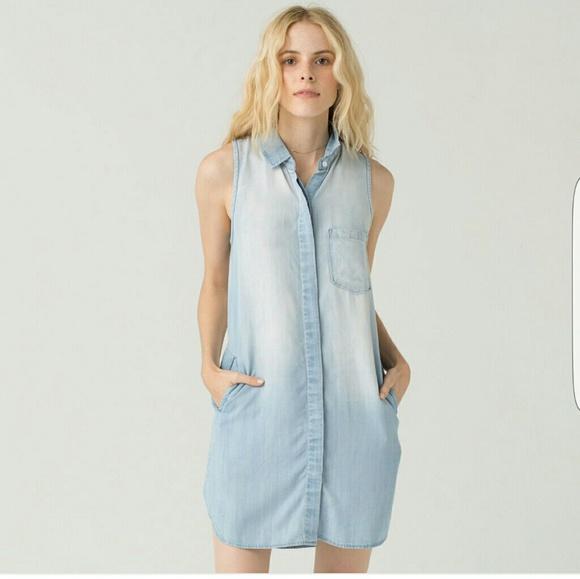 aa21a3ea Thread & Supply Dresses | Thread Supply Felicia Denim Shirt Dress L ...